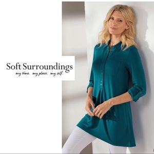 NEW Soft Surroundings Deep Teal Every Day Tunic